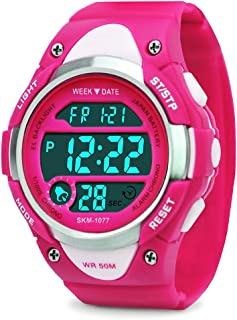 MSVEW Kids Digital Watch - Girls Sports Waterproof...