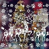 MMTX Weihnachtsdeko Fenster, Fenstersticker Weihnachten Deko Fensterbilder Selbstklebend, Weihnachts Fensteraufkleber PVC Fensterdeko weinachtsdeko für Türen Schaufenster Vitrinen Glasfronten Deko