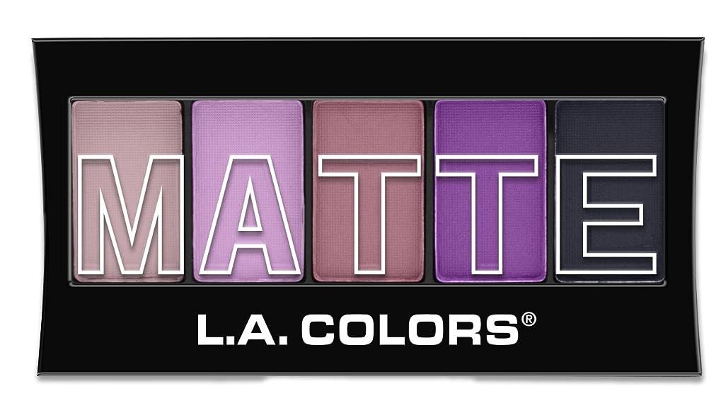 避けるアメリカ悲しむL.A. Colors Matte Eyeshadow - Plum Pashmina (並行輸入品)