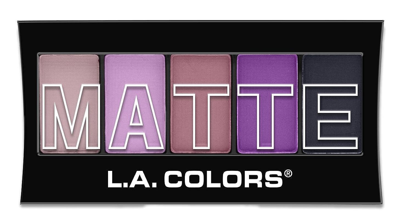 抽出露出度の高い渇きL.A. Colors Matte Eyeshadow - Plum Pashmina (並行輸入品)