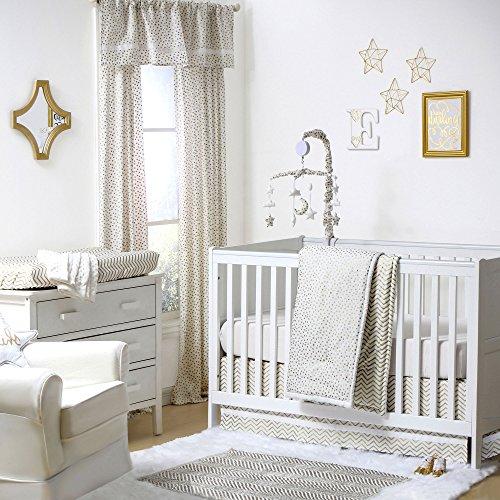 All That Glitters Confetti in Gold Crib Bedding - 11 Piece Sleep Essentials Set