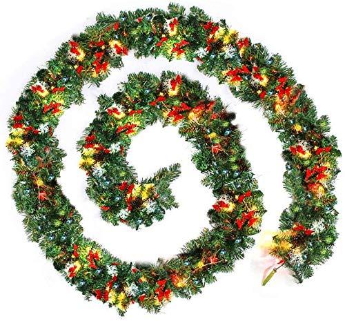 Wjf Las guirnaldas de Navidad for Escaleras Chimenea iluminada con Multicolores Artificial Bricolaje decoración del árbol de Navidad (Color : 1pcs)