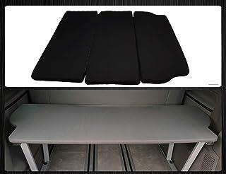 BREMER SITZBEZÜGE Multiflexboard con colchón y extensión de cama compatible con VW T5 y T6 Multivan, tela gris