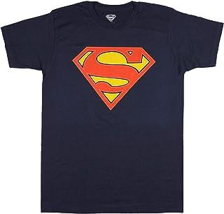 Fashion DC Comics Superman Glow in The Dark Logo Navy Graphic T-Shirt