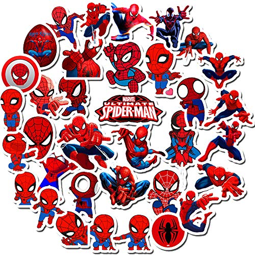 Spider-Man Stickers for Kids,Superhero Stickers for Water Bottle Hydro Flask MacBook Car Bike Bumper Skateboard Luggage