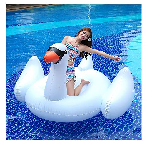Sale!! 2020 Best Oversized Swan Pool Float Ring Inflatable Flamingo Tube Swan Floating Row Inflatabl...