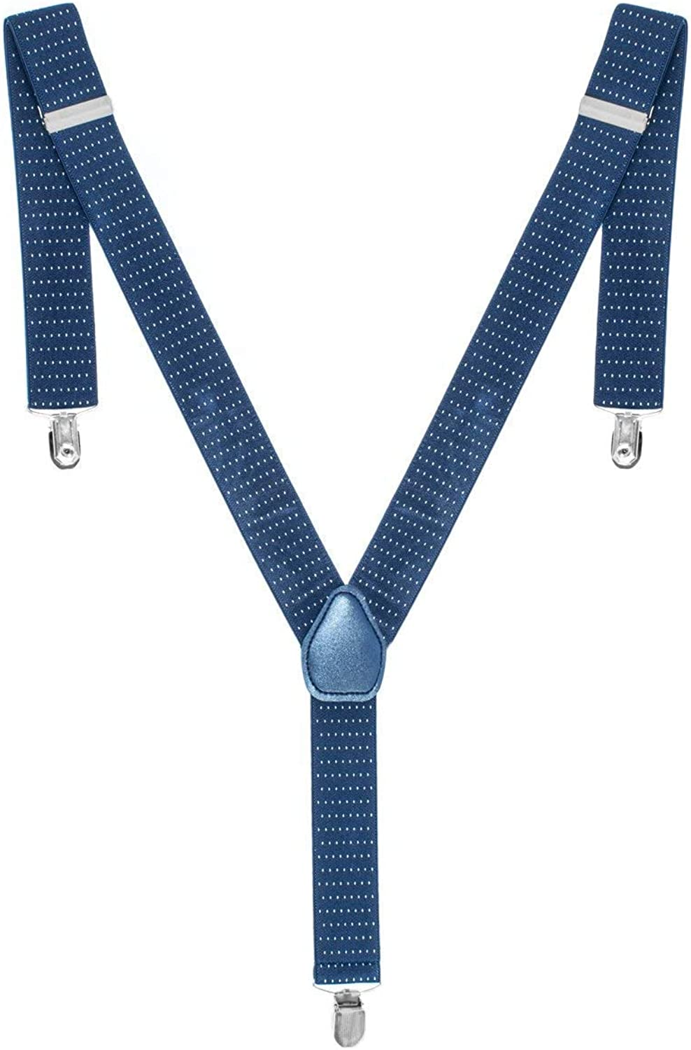 Trimming Shop Men's Suspenders With White Polka Dot Design