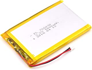 YDL 3.7V 5000mAh 706090 Lipo battery Rechargeable Lithium Polymer ion Battery Pack with JST Connector