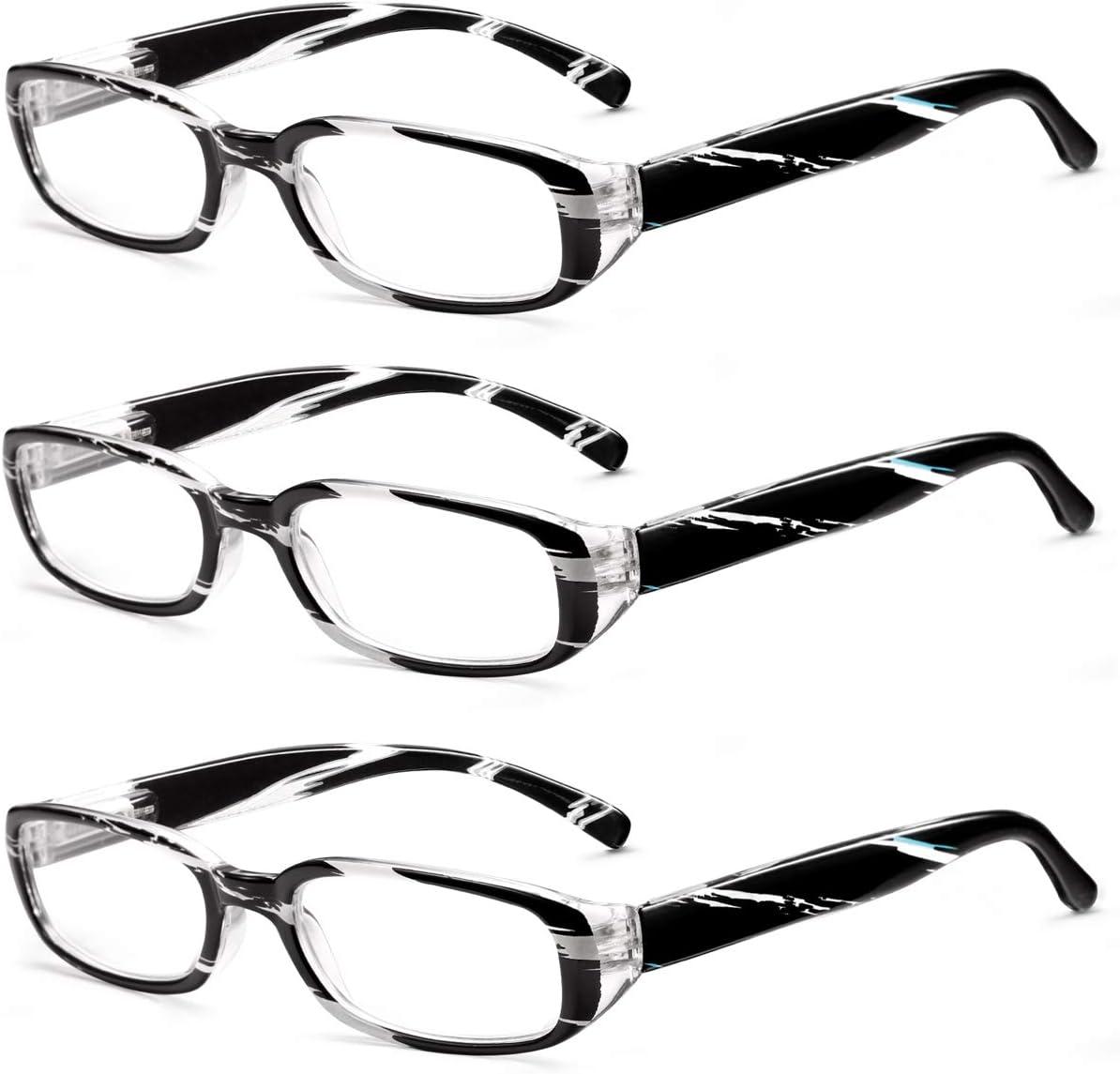 EASE ART Gafas de lectura Hombres Gafas Luz Azul Ordenador Gafas con Filtro de luz Azul para Hombre y Mujer Ligero Marco de Bisagra de Resorte Gafas
