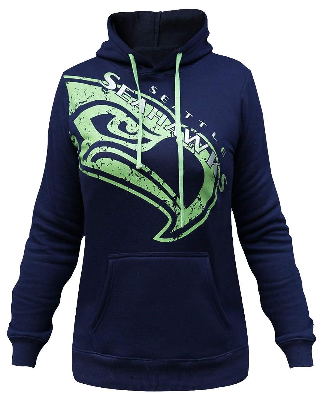 LockQ Womens Sporty Football Seahawks Sweatshirt Pullover Hoodie