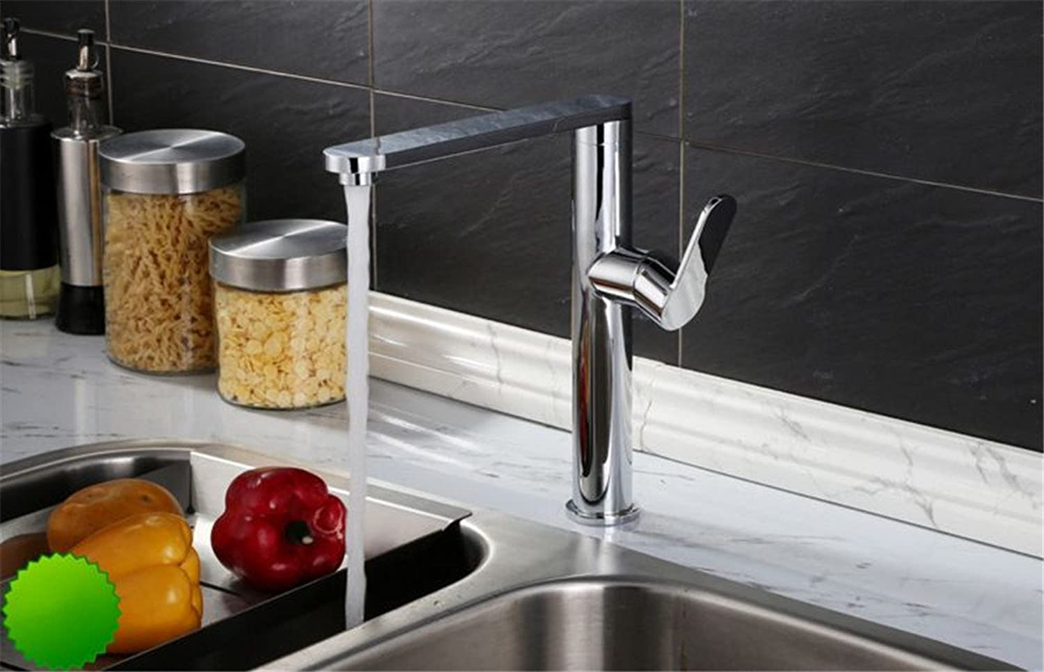 Bijjaladeva Antique Bathroom Sink Vessel Faucet Basin Mixer Tap The copper cold water kitchen dish washing basin faucet basin plus high-stretch sink wash bowls of pool water tap C