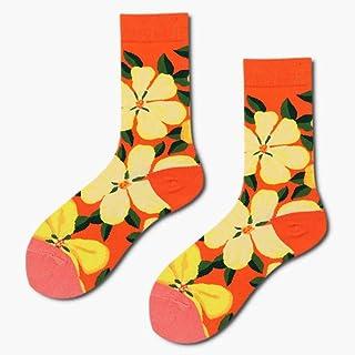 WLQXDD, 3 Pares comienzan a venderse Calcetines Unisex Art Jacquard Harajuku Crew Happy Socks Street Abstract Animal Cute Women Hip Hop Men Socks Divertidos Chaussette Ho