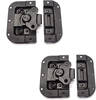 MTMTOOL 2 Pieces Recessed Butterfly Twist Catch Black Spring Loaded Latch for Flight Road Case Cabinet 4.4