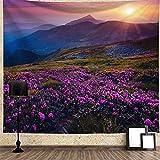 DHHY Tapiz De Flores De Lavanda, Pintura De Paisaje De Flores Románticas para Colgar En La Pared, Pintura De Fondo De Decoración del Hogar De Flores200*150cm