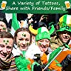 St Patricks Day Tattoos,16 Unique Sheets, 140 Pcs St Patricks Day Stickers, St. patrick's Day Temporary Tattoos Shamrock, Amazing Irish St Patricks Day Decorations Party Favors, A HIT for Your event! #1