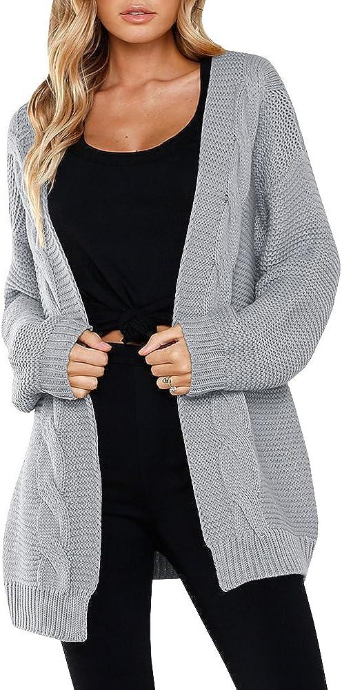 SAIKESIGIRL Womens Oversized Cardigan Chunky Front Sle Long Open 別倉庫からの配送 新作