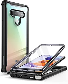 i-Blason Ares Clear Case for LG Stylo 6, Full-Body Rugged Clear Bumper Case with Built-in Screen Protector (Black)