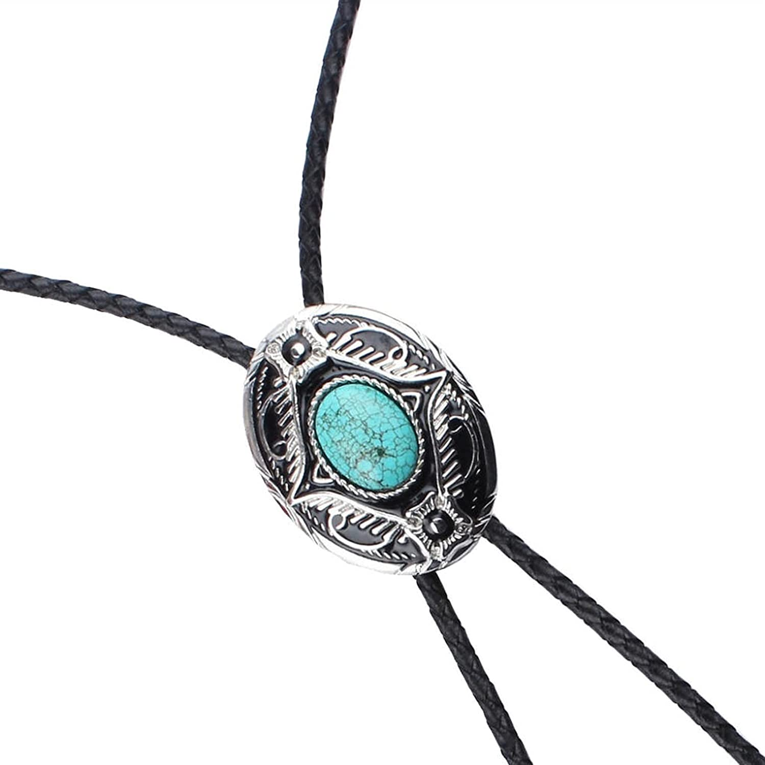 YPYSD Bolo Ties Fashionable bolotie Exquisite Light Blue Turquoise Enamel Western Tie Bolo Leather Tie Ties