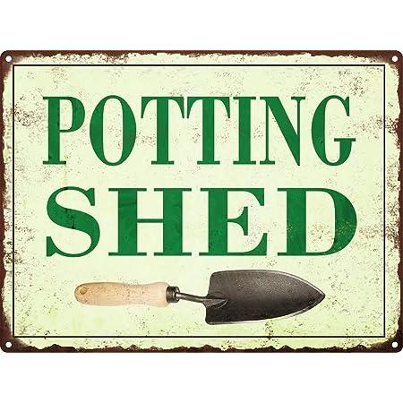 No Branded Potting Shed Garden Patio Vintage Vegetable Wall Art Home Decor Metal Sign