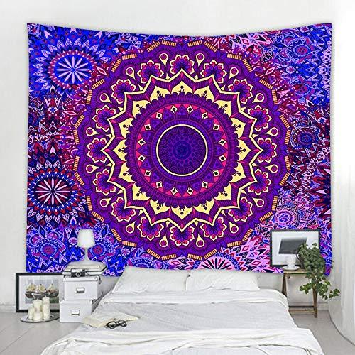 JXWR Tapiz de Mandala Indio de Montaje en Pared Tapiz Multifuncional Boho Impreso Cubierta de Cama Cubierta de Estera de Yoga Manta Tela de Picnic 150x130cm
