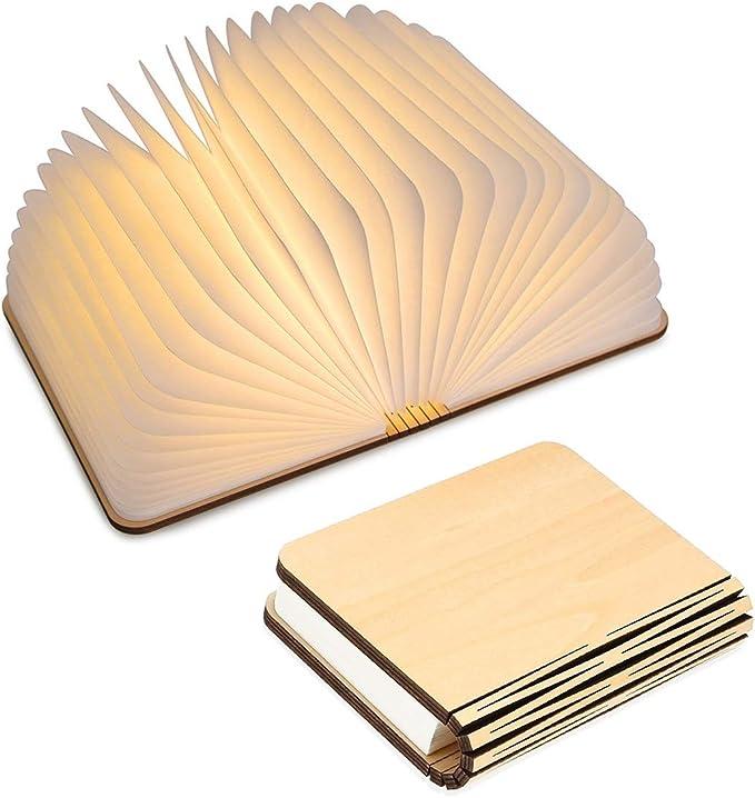 833 opinioni per Lampada Libro USB Ricaricabile, Lampada a Forma di Libro, Luce LED di legno,
