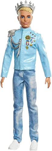 wholesale Barbie Princess Adventure Prince Ken lowest Doll (12-inch) Wearing Jacket, Jeans and Crown, Makes a online sale Great Gift for 3 to 7 Year Olds online