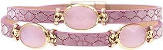 HuoGuo New style trendy leather bracelet Inlaid crystal charm bracelets for women fashion bracelets