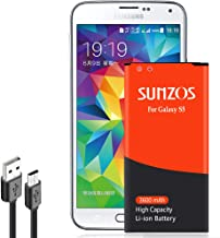Galaxy S5 Battery, SUNZOS 3600mAh Upgraded High Capacity Replacement Battery for Samsung..