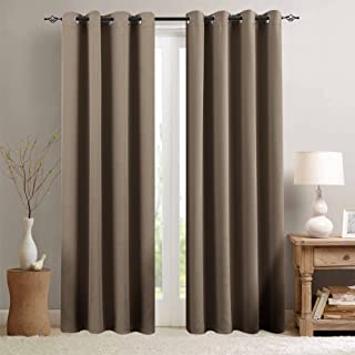 Room Darkening Curtain 95 inches Long for Living Room Moderate Blackout Window Curtain Panel for Bedroom Triple Weave Drape Grommet Top,52