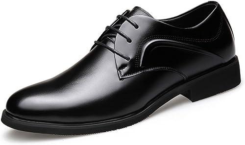 LEDLFIE Herren Echtleder Schuhe Kleid Schuhe Business Lederschuhe Fashion Lace-up Schuhe