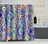 UniEco 180x180cm Anti-Schimmel Wasserdicht Duschvorhang,Anti-bakterieller Vorhang für die Dusche...
