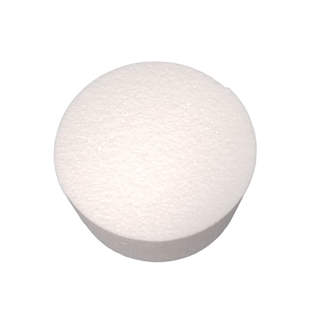 MT Products 3 inch High Round Craft Foam Cake Dummy (2 Pieces) (6