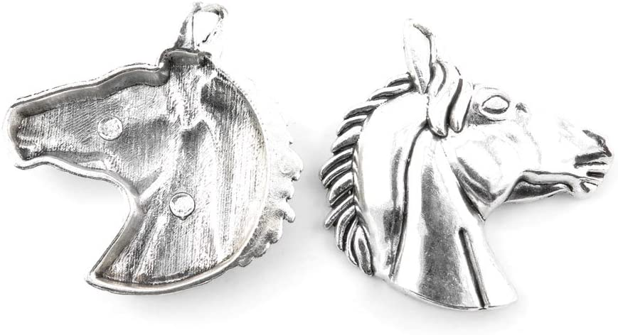 40 Pieces Antique Silver Tone Jewelry Charms いつでも送料無料 Horse Z7RZ3 豪華な Making
