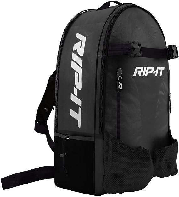 Amazon.com : RIP-IT Baseball/Softball Bat Backpack - Black : Baseball Bat Bags : Sports & Outdoors
