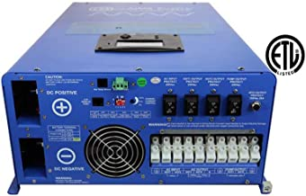 Aims Power 12000 Watt Pure Sine Inverter Charger 48Vdc & 240Vac Input to 120 & 240Vac Split Phase Output with 36KW Surge 50 or 60Hz ETL Listed 12KW