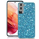 Zeking Samsung Galaxy S21 / S21 5G Case, 3D Cute Bling Glitter Quicksand Diamond Protective Case Cover for Samsung Galaxy S21 / S21 5G (6.2')(Blue)