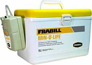 Frabill Personal Bait Station, 8-Quart, White/Yellow