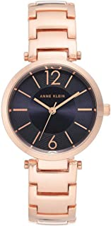 Anne Klein Womens Quartz Watch, Analog Display and Stainless Steel Strap AK-3046NVRG