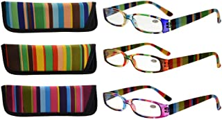 Eyekepper 3 Pack Ladies Reading Glasses for Women Smaller Readers +2.75