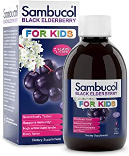 Sambucol Black Elderberry Syrup for Kids, 7.8 Ounce Bottle