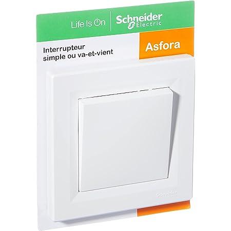 Schneider Electric SC5EPH0403121 Interrupteur ou va-vient encastrable complet asfora