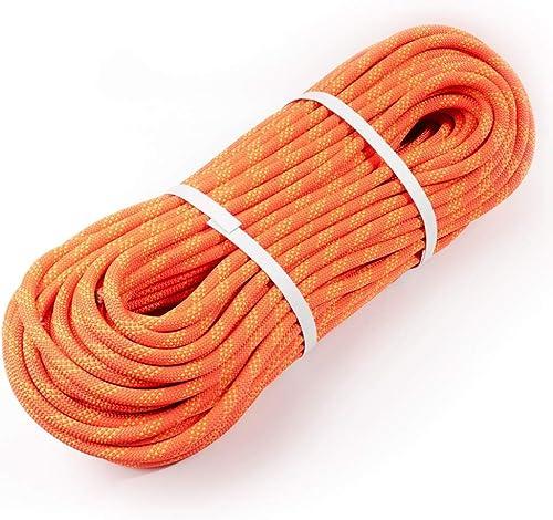 QARYYQ Corde d'escalade, Corde électrostatique, Corde de Descente Rapide, Corde de Travail aérien, diamètre 11   12mm, Orange Cordes (Taille   11mm 10m)