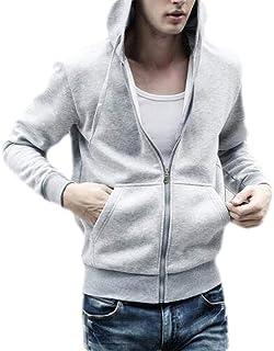 FSSE Mens Casual Hooded Plus Size Sport Fleece Zip Up Sweatshirt Jacket Coat Outwear