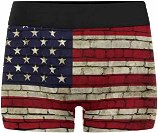 XS-3XL INTERESTPRINT Custom Mens All-Over Print Boxer Briefs Grungy Paper Flag of Great Britain