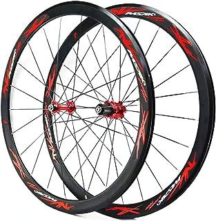 ロードバイク40 MMフラットスポークストリップ超軽量シールベアリング11速度C Vブレーキホイールセット700Cホイール自転車ホイール