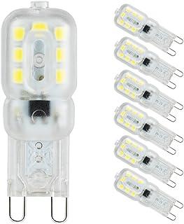 comprar comparacion G9 Led Bulb 3W, Bombilla Led G9 Pursnic (equivalente a halógeno de 33W), blanco frío 6000k, ángulo de haz de 360 °, lámpar...