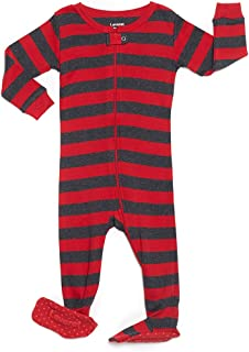 red striped baby pajamas