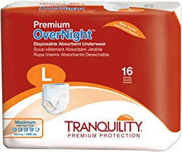 Tranquility Premium Overnight Disposable Absorbent Underwear (DAU) – LG – 64 ct
