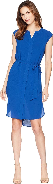Adrianna Papell Women's Gauzy Grepe Shirt Dress