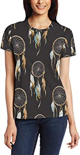 XiangHeFu T-shirt voor vrouwen meisjes Dreamcatcher aangepaste korte mouw